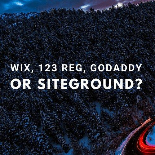 Wix 123 Reg GoDaddy Siteground BATS Website Hosting Domain