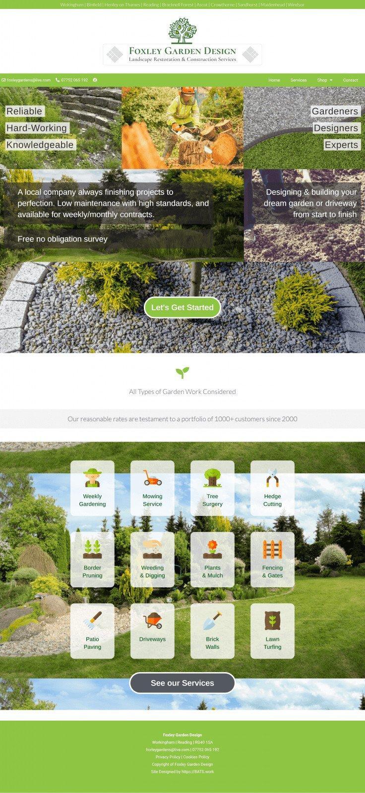 Foxley garden Design
