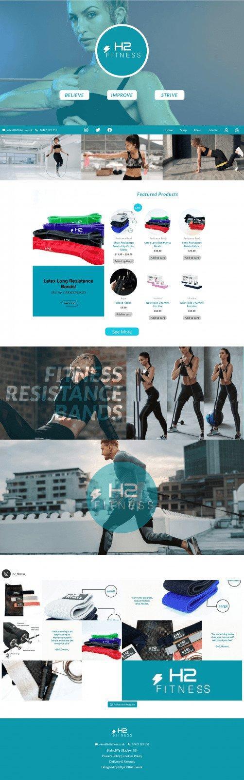 Portfolio BATS Website Design H2 Fitness