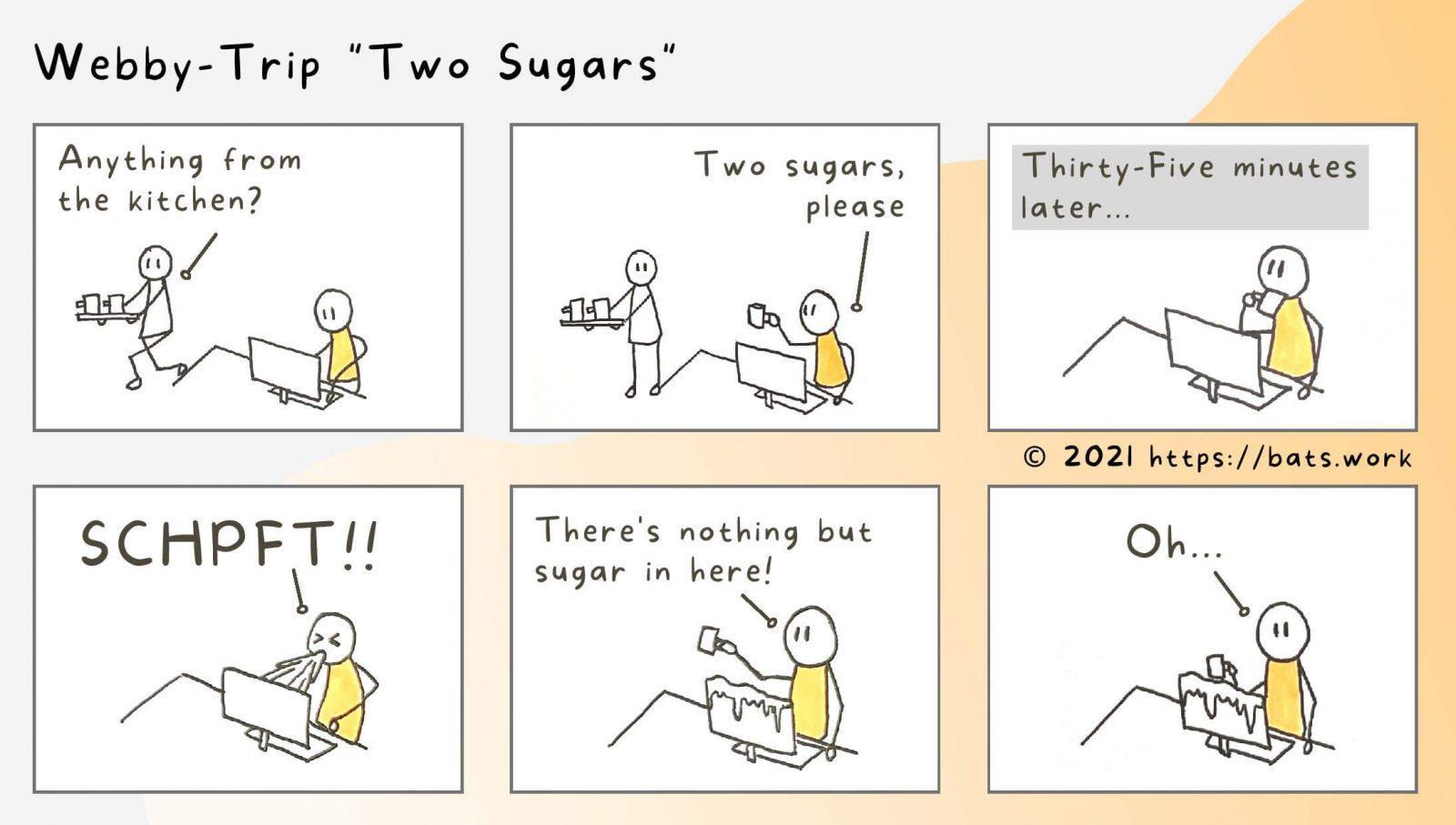 Webby Trip Two Sugars Comic Strip Art