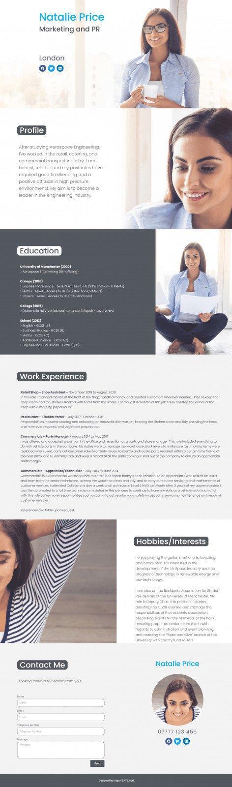 CV Template 1